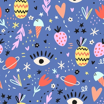 Cute doodle pattern doodle backgroun