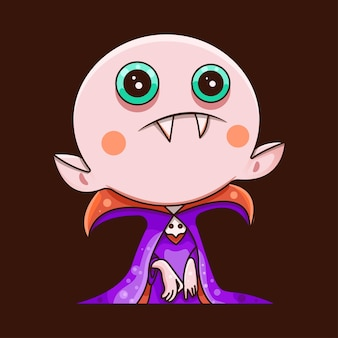 Cute dracula for character, sticker, t-shirt
