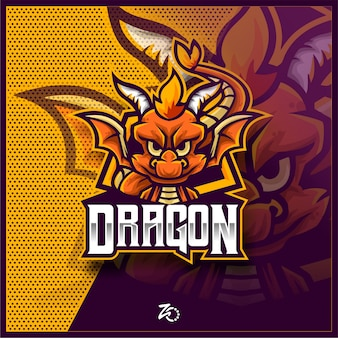Cute dragon baby gaming esports