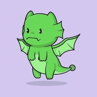 Cute dragon cartoon character design