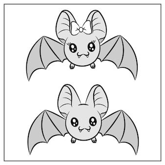 할로윈 귀여운 그리기 박쥐