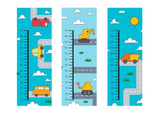 Симпатичные нарисованные высотные метры иллюстрированы