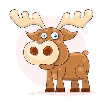 Cute, dreaming baby, deer