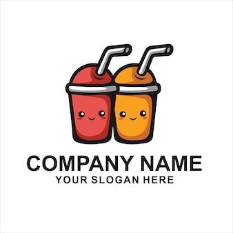 かわいい飲み物のロゴ
