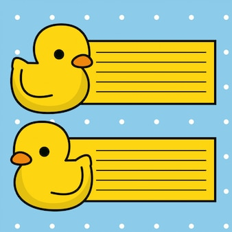 Cute duck card collection
