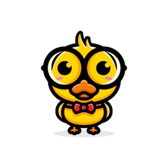 Cute duck character