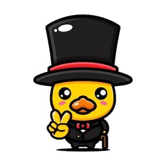 Cute duck in classic style