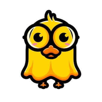Cute duck ghost character design