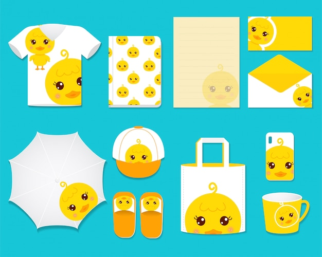 Cute duck graphic gift set
