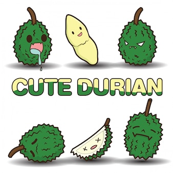 Cute durian cartoon