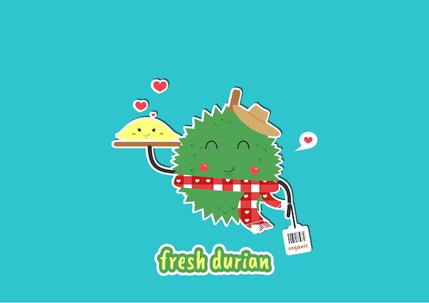 Cute durian gardener