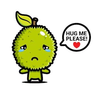 Милый дуриан грустный хочет, чтобы его обняли