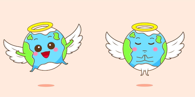 천사로 귀여운 지구