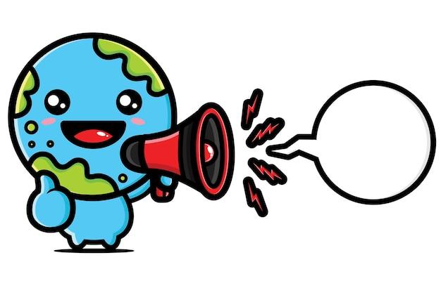 Cute earth   character design