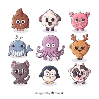 Cute earth and water life animal collection