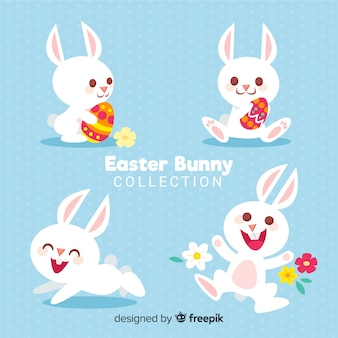 Cute easter bunny collection