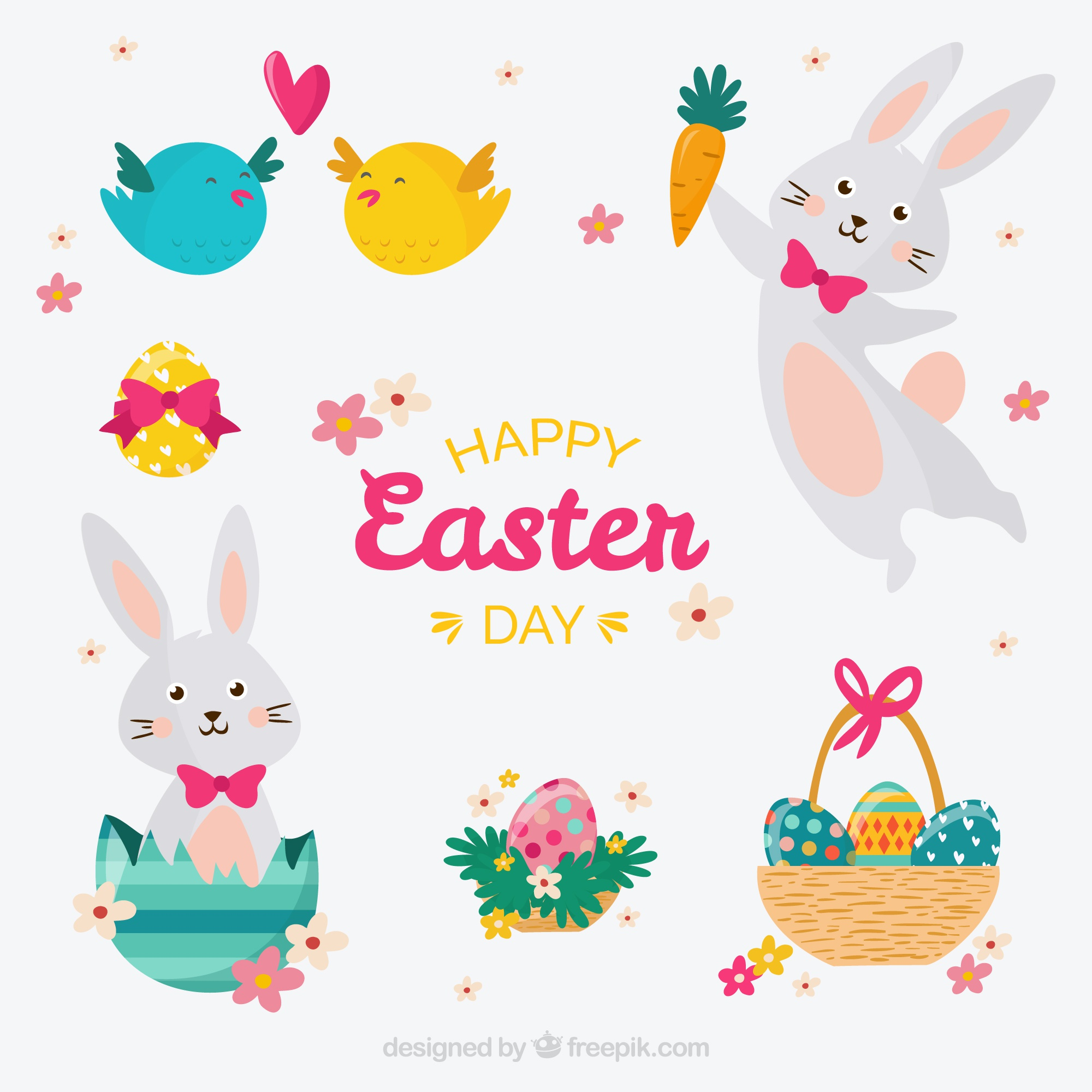 Cute easter day collection