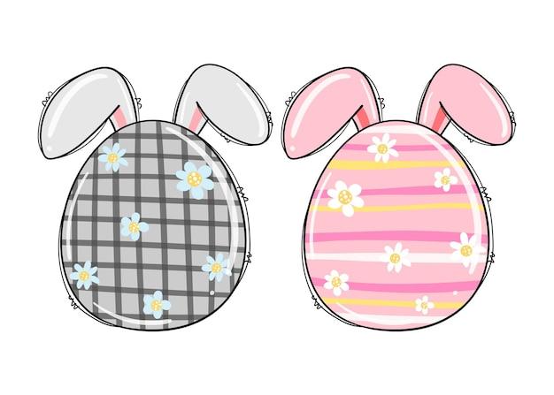 Милый кролик пасхальные яйца