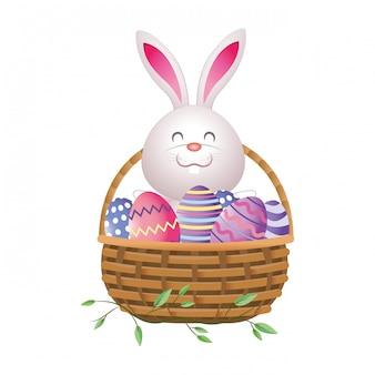 Cute easter eggs cartoon