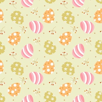Cute easter eggs seamless pattern.