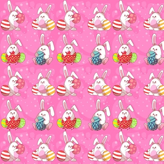 Cute easter rabbit seamless pattern