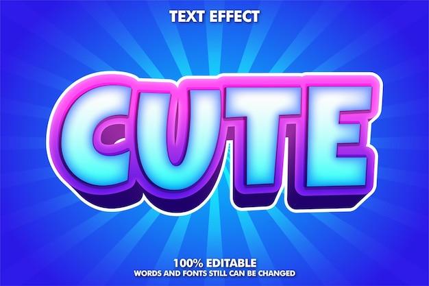 Симпатичный редактируемый мультяшный текстовый эффект