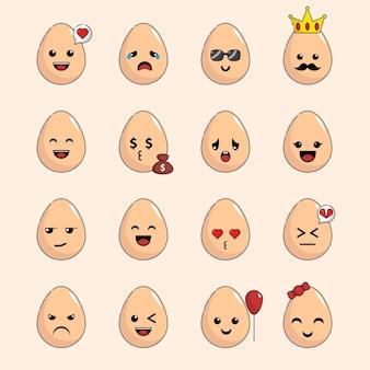 Милый персонаж каваи яйцо