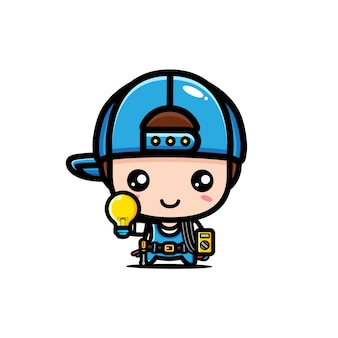 Cute electrician character