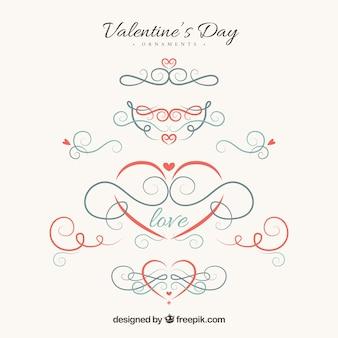 かわいいエレガントなバレンタインの装飾品