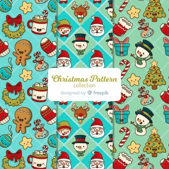 Cute elements christmas pattern