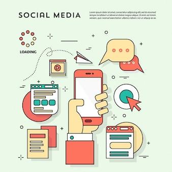 소셜 네트워크를위한 귀여운 요소