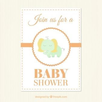 ベビーシャワーのためのかわいい象カード
