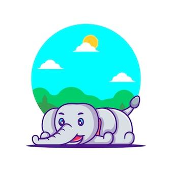 귀여운 코끼리 만화 그림