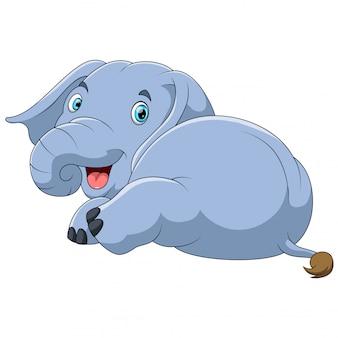 Cute elephant cartoon