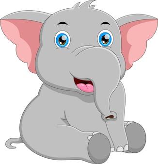 Мультфильм милый слон