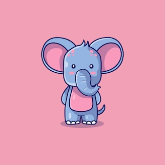 かわいい象のアイコン漫画イラスト
