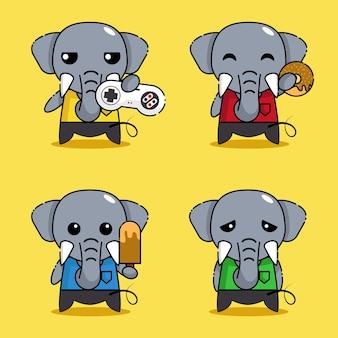 Cute elephant mascot character