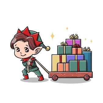 귀여운 엘프 만화 캐릭터