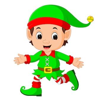 Cute elf cartoon