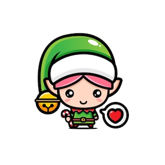 The cute elves are ready to celebrate christmas