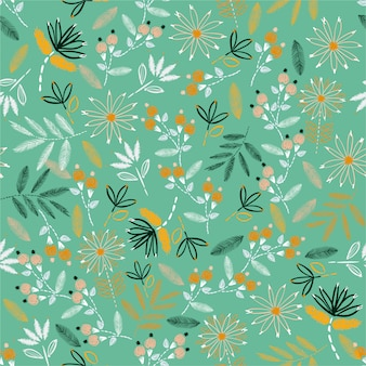 Cute embroidery mood hand stitch seamless pattern. traditional blooming embroidery. vector illustration design for home decore, fashion, fabric, wallpaper and all prints
