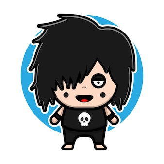 Cute emo boys character design