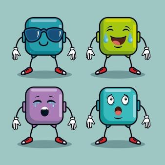 Симпатичные emoji смайлики эмоции лица иконки