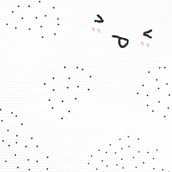 Cute emoticons background  sticking tongue out in doodle style