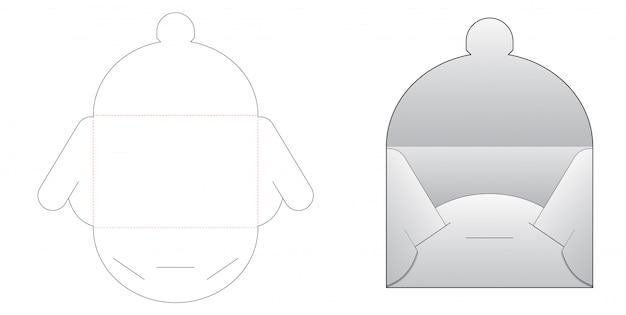 Симпатичный конверт высечки шаблона