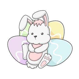 かわいいエステルバニーウサギと卵