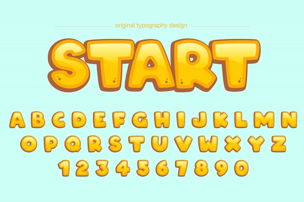 Cute extra bold yellow comic typography design