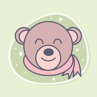 Симпатичное лицо медведя
