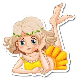 かわいい妖精の漫画のキャラクターのステッカー