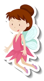 Cute fairy cartoon character sticker